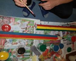 Nasze prace na rzecz społeczności lokalnej, wykonujemy przedmioty dla dzieci ze Szkoły Podstawowej w Nowej Wsi