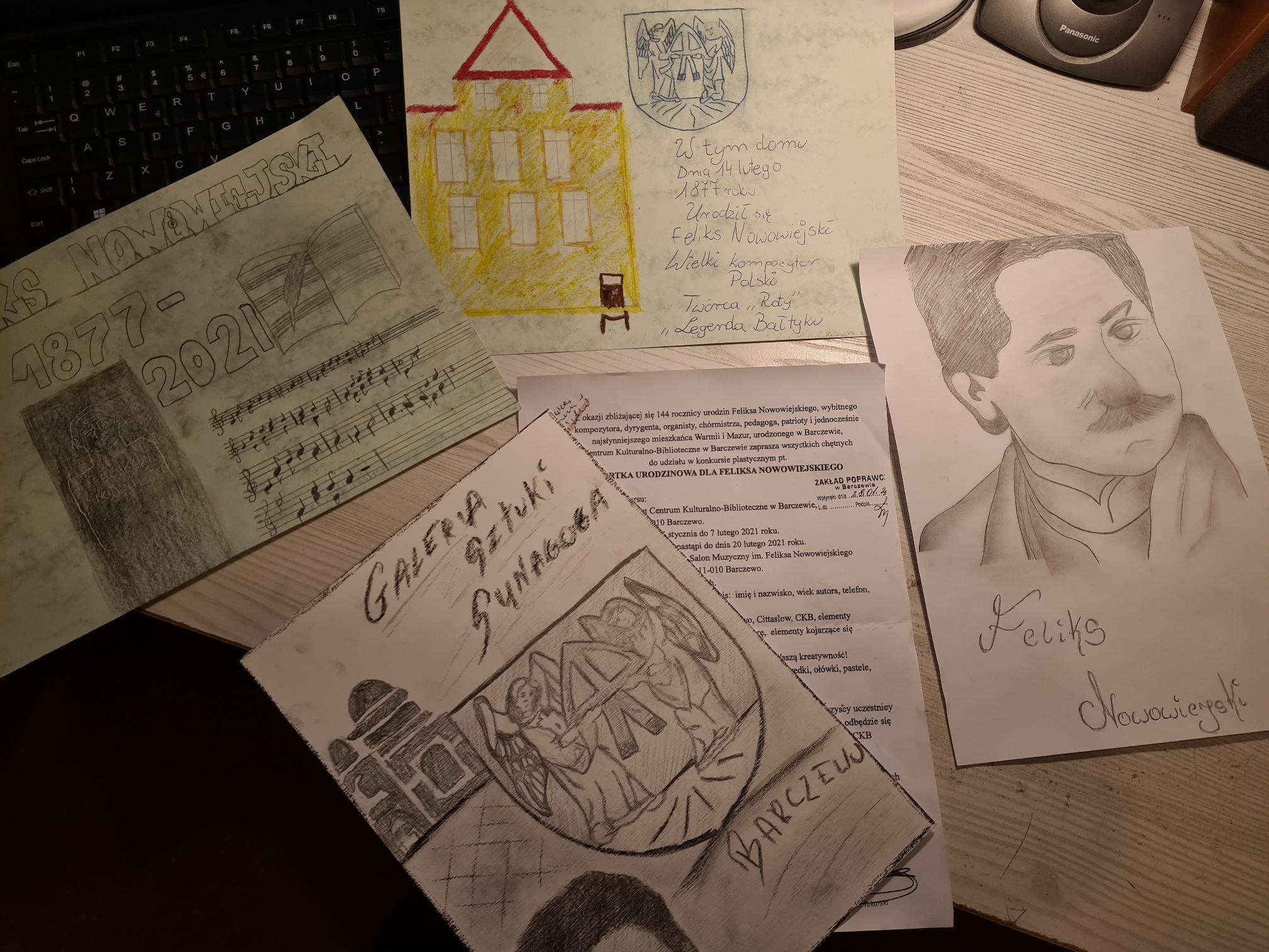 Ilustracja do aktualności Udział NASZYCH WYCHOWANKÓW  w konkursie: KARTKA URODZINOWA DLA FELIKSA NOWOWIEJSKIEGO